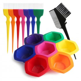 15 PCS/LOT Hair Coloring Brushes/Mixing Bowls/Comb/Care tool/Professional Hairdressing Set/Salon Tools for Hair coloring