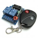 DC 12V Wireless Remote Controller DC 12V 2 Channel Remote Control Self Lock Switch Board