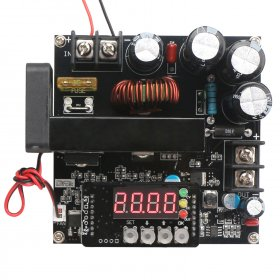 900W Power Supply Module DC 8~60V to 10~120V 15A NC Voltage Regulator/Adapter/Boost Converter/Constant Voltage Current Driver Module High Precise Adjustable Output 48V 24V 12V DC Power Supply with LED Display Voltmeter Ammeter