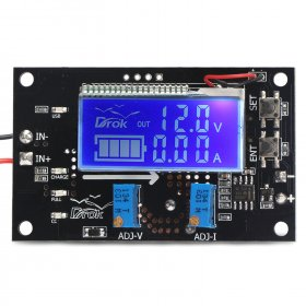75W NC Charging module/Adjustable Voltage Regulator DC 6~32V to 1.25~32V 5A Buck Driver Module DC 12V 24V Adapter/Driver Module With LCD Voltmeter/Ammeter/Capacity Indicator