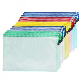 15 PCS/LOT Zipper Bag/Stationery Bag/Plastic Folder/Waterproof Folder/File Bag for Storing paper/cosmetics/cash/office supplies etc