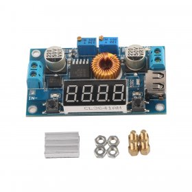 DC 5~36V to 1.25~32V 5A 75W Adjustable CC-CV Voltage Regulator Car Converter +USB Charge+Voltmeter+Ammeter+Power Meter