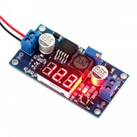 LM2577 DC 3-34V to 4-35V Adjustable Boost Step Up Converter + Red LED Voltmeter
