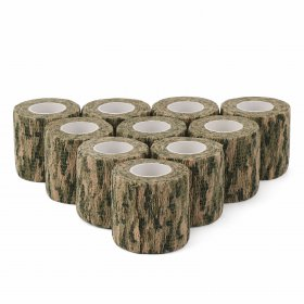 10 PCS/LOT Camo Stealth Protective Tape/Waterproof Bandage/Adhesive Tape/DIY Tap for Knives/Gun/camera/Telescope etc
