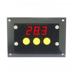 DC 24V Digital Thermostat -50-110°c Temp Cooling Heating Automatic Switching with NTC Sensor