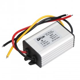 27W Voltage Regulator DC 9~60V to 9V 3A 27W Buck Power Supply Module/Power Converter/Car Adapter/Driver Module Waterproof