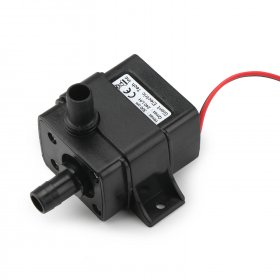 4.8W Water Pump DC 12V 240LPH Ultra Quiet Brushless Motor Micro Pump/ Circulation Pump Amphibious for CPU/HDD/Garden etc
