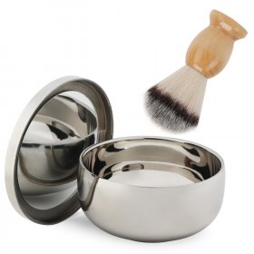 Brush/Bowl/Beard Shaving Brush/Shaving Soap Bowl/Salon Tools/Facial Care Tools for Dad/boyfriend/husband/grandfather etc