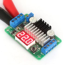 DC Boost Voltage Regulator DC 3.5V-30V to 3.5V-30V 6A 100W Adjustable Converter with Red LED Voltmeter
